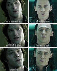 Sam and Loki... ohmyGod... the feels... I can't.... *collapses into a heap on the floor, sobbing*