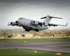 C17 Transport Aircraft Taking Off from RAF Brize Norton MOD 45156519 - Royal Air Force -C-17 Globemaster III