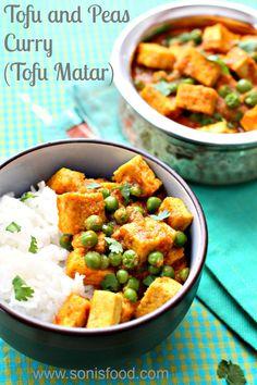 Tofu and Peas Curry (Tofu Matar)