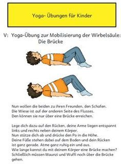 Im Material enthalten i… Image and text material for basic yoga exercises. The material also includes a fanfold for the children, in which the exercises were visualized again