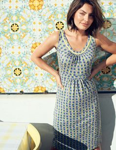 Sienna Dress at Boden. I'm tempted to buy the yellow one, actually! I love Boden...