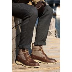 Sperry Top-Sider Men's Cloud Logo Shipyard Rigger Boot - stylish and cozy #boots #lug #sperrytopsider