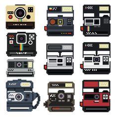 8-Bit Polaroid Decal Set