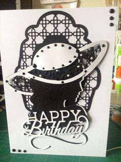 Birthday card made using Tonic Dies