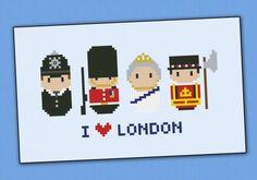 London icons cross stitch pattern Hama Beads Patterns, Beading Patterns, Embroidery Patterns, Cross Stitching, Cross Stitch Embroidery, Cross Stitch Patterns, Perler Beads, London Icons, Modern Cross Stitch