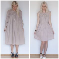 ⠀⠀Ladygirl Vintage: Taupe and Polka Dots