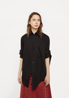Shop Belted Sleeve Shirt from Yang Li at La Garçonne. La Garçonne offers curated designer goods from luxury and emerging designers.