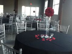 Venue 92, chairs & tables included. Linens may be rented (several colors) or provide our own.