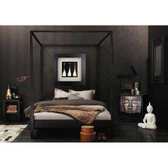 Black Dresser Bouddha and a white Buddha nightlamp