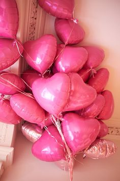 Pink Heart Balloons - inspiration for the Love Collection Pink Love, Pretty In Pink, Hot Pink, Bys Maquillage, Girl Birthday, Birthday Parties, Birthday Balloons, Heart Balloons, Pink Parties