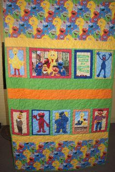 Sesame Street Muppets Toddler Quilt