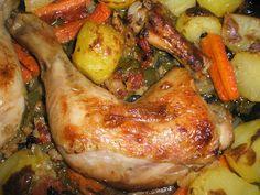 Pollo Asado entre Verduras - Receta Y Preparación