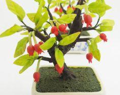 Miniature Polymer Clay Flowers Supplies Pomegranate Bonsai 1 piece