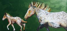 """Speckled Pony Ride by Eli Halpin 35.75"""" x 79.75"""" oil on wood"""