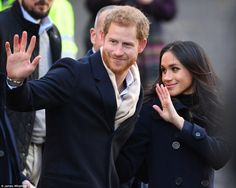 It is unclear why Kate visited the station on Friday but it comes the same day that Prince Harry and Meghan Markle travelled by train for their engagement in Nottingham. Pictured: The couple in the city today