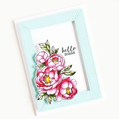 Stamps: Pick A Peony / Die Collections: Frame It Frame It, Clear Stamps, Peony, Collections, Blog, Inspiration, Biblical Inspiration, Peonies, Blogging