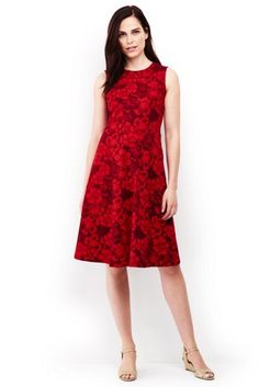 140e188f709 Try our Women s Sleeveless Ponte Paneled A-line Dress at Lands  End.