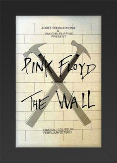 Pink Floyd 'The Wall' 1980 Framed Concert Sheet by by Innerwallz, $35.00