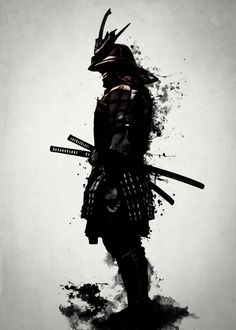 ▷ 1001 coole und effektvolle Samurai Tattoo Ideen fighter tattoo, black and white drawing, man, katana, helmet Samurai Tattoo, Ronin Tattoo, Demon Tattoo, Shogun Tattoo, Shadow Tattoo, Cat Tattoo, Katana, Erde Tattoo, Ronin Samurai