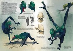 Creature with back-story development