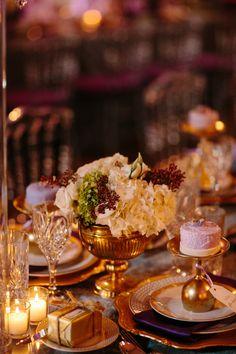 Lavender, Gold & Tea Lights