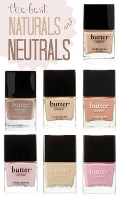 Butter London Nail Lacquer Neutrals - Pink Ribbon, Yummy Mummy, Hen Party, Tea with the Queen, Teddy Girl, Cuppa, Fruit Machine