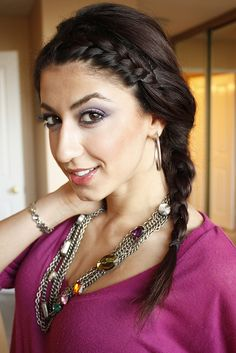 Bohemian Side French Braid by Luxy Hair, via Flickr