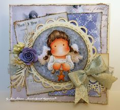 Tilda with hanging star, Merry Little Christmas, Magnolia stamps
