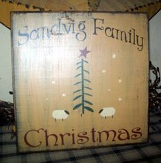 PRIMITIVE SIGN Christmas Signs, Christmas Projects, Christmas Time, Christmas Ideas, Country Signs, Country Decor, Primitive Christmas, Vintage Christmas, Holiday Decorations