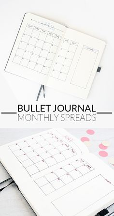 Bullet Journal Monthly Spreads. I need a new system to plan out my months. This post has some great ideas.