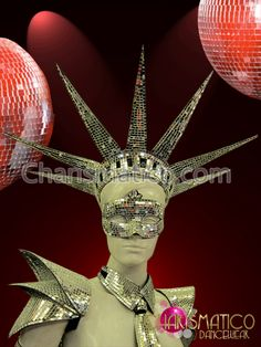 Showgirl/'s Cabaret Floorshow Mirror Tiled Statue of Liberty Crown Headdress
