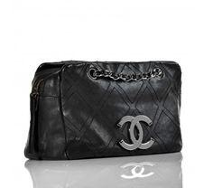 Chanel Black Diamond Stitch Tote Bag