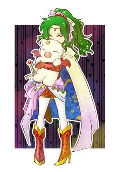 ✧ #characterconcepts ✧ Terra and Mog - Final Fantasy 6 / FF6