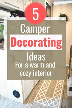 Camper Discover 5 things you can do today for a warm and cozy camper! Here are 5 things you can do today to make your camper warm and cozy! These 5 home decor tips will help you find perfect items for your RV. Travel Trailer Decor, Travel Trailer Camping, Rv Travel, Travel Trailers, Travel Trailer Living, Camper Hacks, Diy Camper, Camper Trailers, Camper Storage