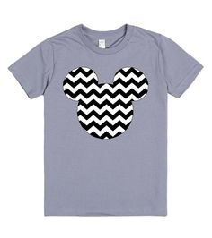 Chevron Mickey Mouse t-shirt. Available in baby, children, women's and men's sizes in a variety of colors and styles! Want to add a name or other text? Just email me at Angela@myhearthasears.com