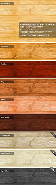 6 Tileable Wood Pattern + 3 Bonus
