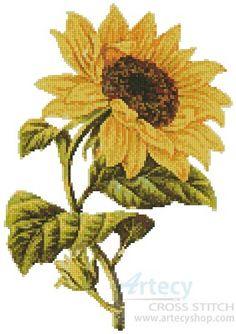 Golden Sunflower cross stitch chart