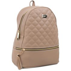 Copi Women's Simple Design Deluxe fashion Quilted small Backpacks Beige. Modern design Backpacks and Emotional and feminine type multipurpose easy fit for shopping, promenade, and outing bag. This bag does not fit A4 folder. But, It's big enough for 10 inch tablet and I can fit a folder in it as well. It's does fit backpack for fashion. It's Simple, cute and feminine type of small bag. (11.8in(H) * 9.5in(W) * 3.95in(D), weighs 0.76LB, Handle drop:2.2in). The number of pockets: 2ea…