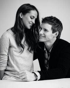 Eddie Redmayne with co star Alicia Vikander from The Danish Girl #eddie #redmayne #alicia #vikander #danishgirl