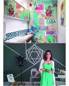 """Bom dia com tendência de décor para aderir já. A arte de rua agora brilha dentro de casa e o grafite não é a única opção. Dois """"colegas"""" também foram convidados a entrar. Os lambe-lambes agora fazem as vezes de papel de parede. E a tape art (feita com fita adesiva) que ganhou força a partir de 1989 no lugar do spray também aparece para tirar as paredes da mesmice com desenhos variados. Quer saber mais? Tem na sua #glamourdefevereiro. Corre agarrar a sua!  via GLAMOUR BRASIL MAGAZINE OFFICIAL…"""