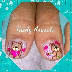 Manga, Nails, Work Nails, Amor, Kawaii Nails, Best Nails, Feet Nails, Finger Nails, Ongles