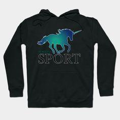 'Unicorn blue' by kriko Long Hoodie, Hoodies, Sweatshirts, Laptop Sleeves, Chiffon Tops, Classic T Shirts, Mini Skirts, Graphic Sweatshirt, T Shirts For Women