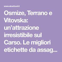 Osmize, Terrano e Vitovska: un'attrazione irresistibile sul Carso. Le migliori etichette da assaggiare. - Slowine
