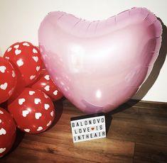 Foil balloon - Heart (pastel pink)