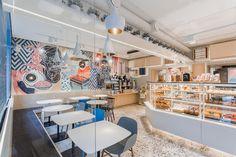 Cafetería Karavaevi Brothers en Moscú, diseño de V12