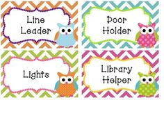 Bright Patterns & Owls Classroom Decoratives Set