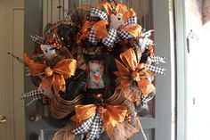 Halloween Wreath with Ghosts and Ghost by LindasAtticEmporium, $219.95