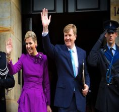 King Willem-Alexander and Queen Maxima of The Netherlands attends 2014 birthday reception of King Willem-Alexander (27 april) at the Royal Palace Amsterdam