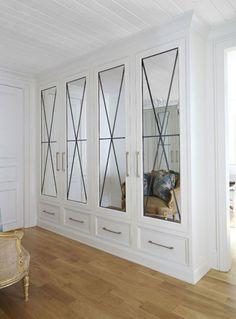 Coat Closet Doors Entryway Built Ins 26 Ideas French Closet Doors, Bedroom Closet Doors, Mirror Closet Doors, Entryway Closet, Mirror Door, Bathroom Closet, Wall Of Closets, Closet Wall, Bathroom Doors
