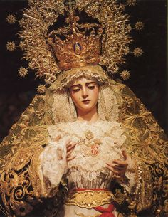 Blessed Mother - Queen of Heaven, Esperanza. Religious Images, Religious Icons, Religious Art, Blessed Mother Mary, Blessed Virgin Mary, Virgin Mary Statue, La Madone, Our Lady Of Sorrows, Queen Of Heaven
